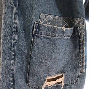 GAP Jackets   Coats - GAP X GQ UA Workwear Patchwork Denim Jacket Sz XL 6c59c2c79bb4